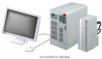 用市售显示器和鼠标也可以进行操作(标准配备)