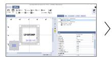 (1)对希望刻印的字符串和图进行配置