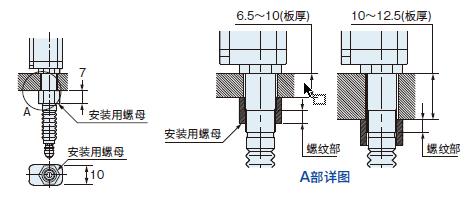 安裝傳感器檢測頭連接線纜的示意圖