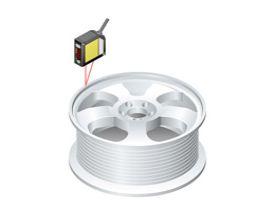检测铝轮毂的沟槽