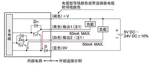 NPN输出型 输入·输出电路图