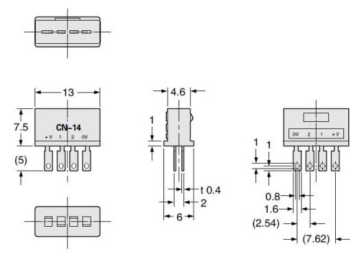 光电传感器 pm > 尺寸图