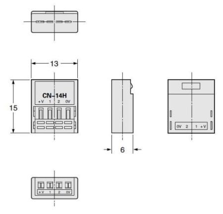 u型微型光电传感器 pm