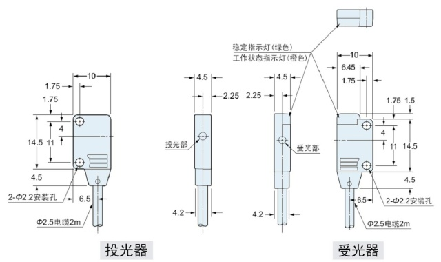 超薄型光电传感器