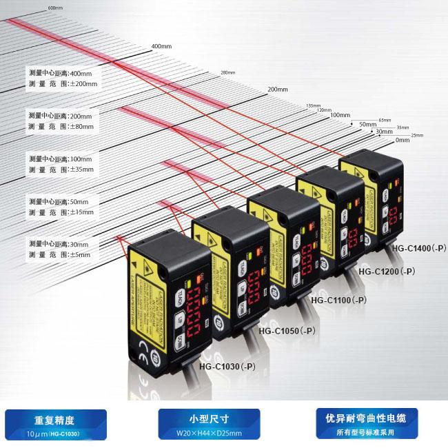 松下hg-c1030激光位移传感器非接触式型微型激光位移