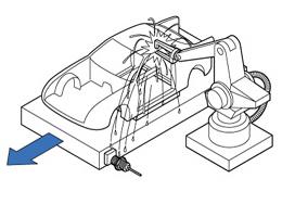 在焊床上定位工件(仅限GX-F□U-J)