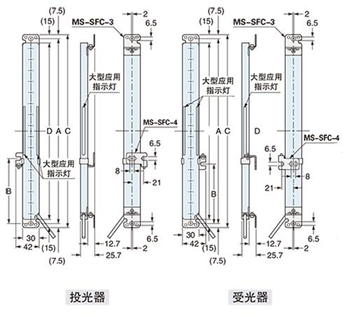 下图所示为已安装多功能安装支架ms