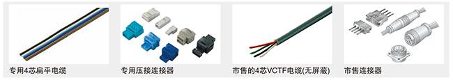 可以使用市售的电缆或连接器